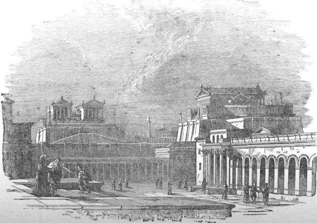 Roman Forum - Ilustration